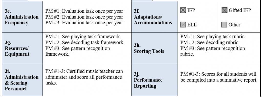 Performance Task Framework