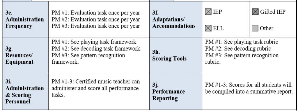 Performance Task Framework