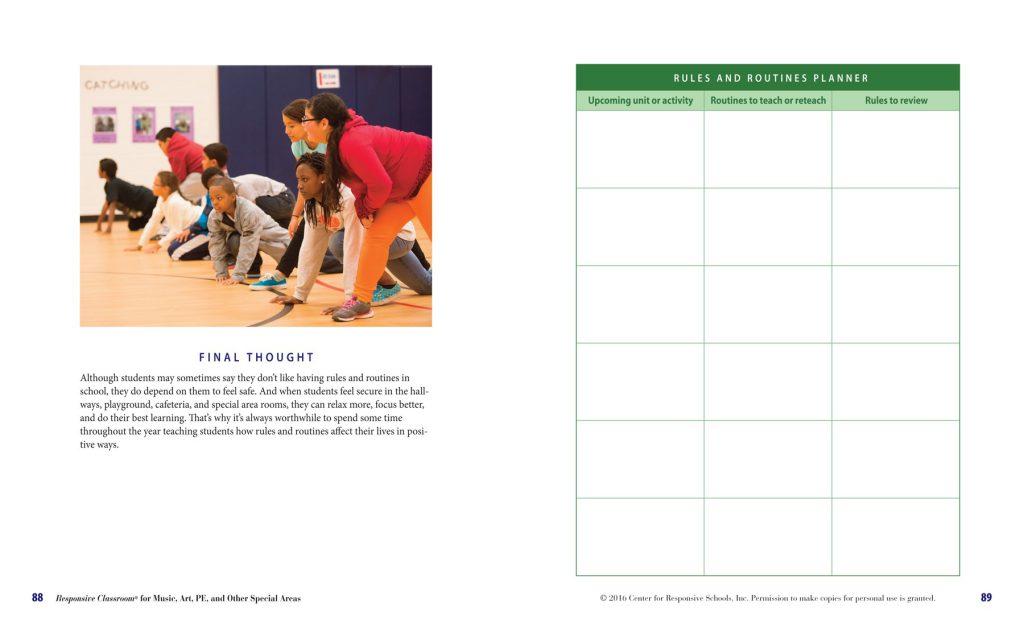 responsive classroom sample