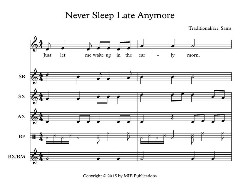 Never Sleep Late Anymore