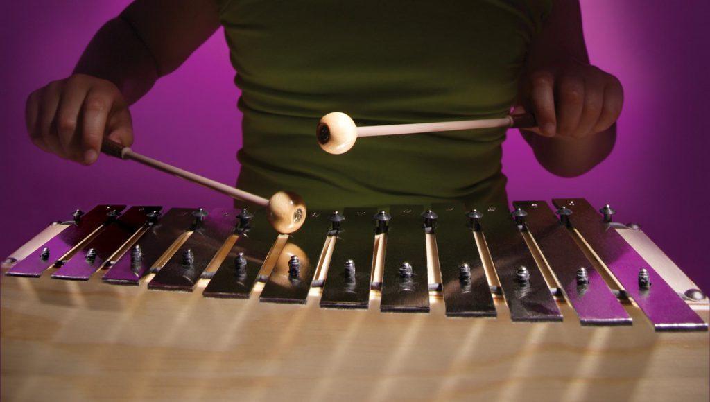 playing glockenspiel