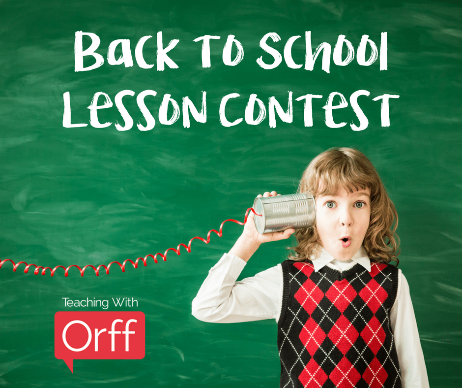 back to school lesson contest