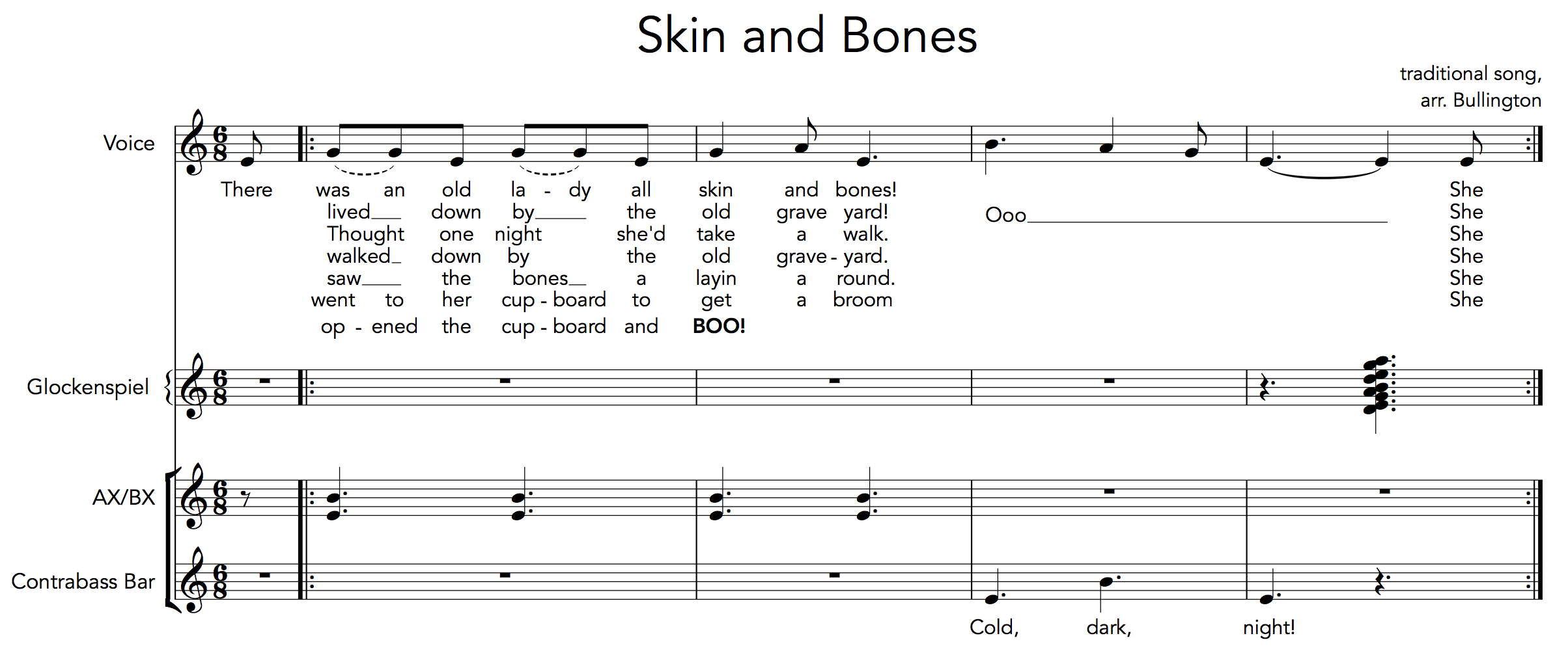Skin And Bones Part 1 Teaching With Orff