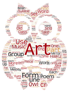 owl word art
